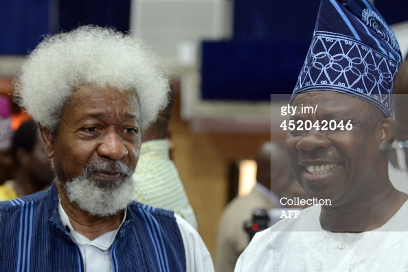 Wole Soyinka and Governor of Ogun State, Ibikunle Amosun