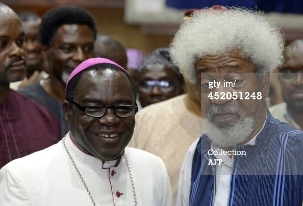 Bishop Matthew Kukah and Wole Soyinka