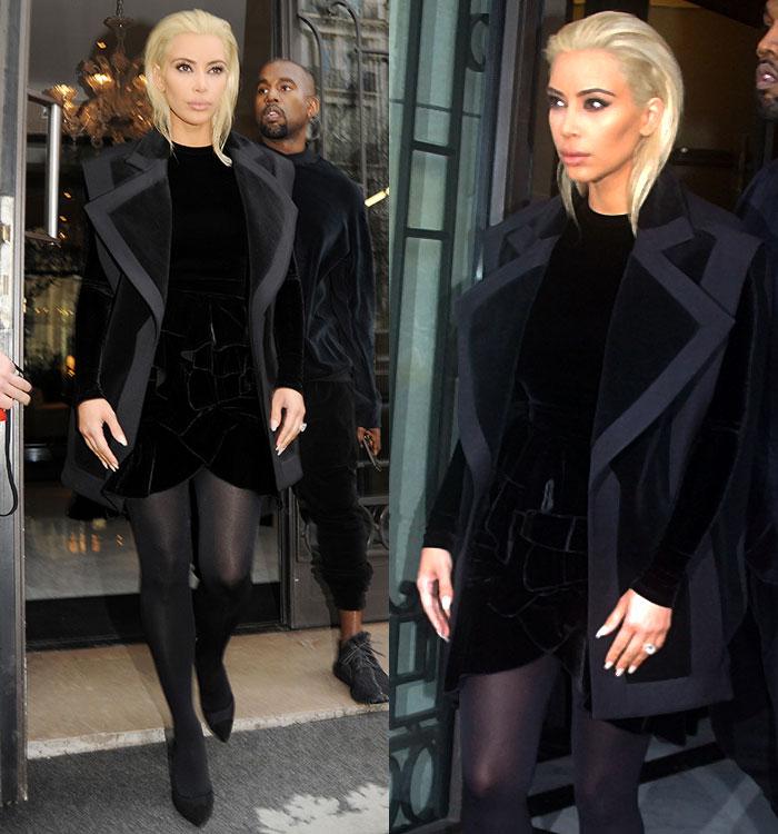 Kim-Kardashian-debuts-Platinum-Hair-Le-Royal-Monceau-Hotel