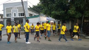 The Truppr Team in Lagos do the 5 kilometer run starting from Olosa Street in Victoria Island, Lagos