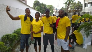 The Truppr Team in Lagos do the 5 kilometer run starting from Olosa Street in Victoria Island, Lagos. I'm in this photo.