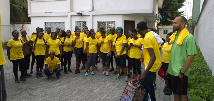 The Truppr Team in Lagos do the 5 kilometer run starting from Olosa Street in Victoria Island, Lagos.