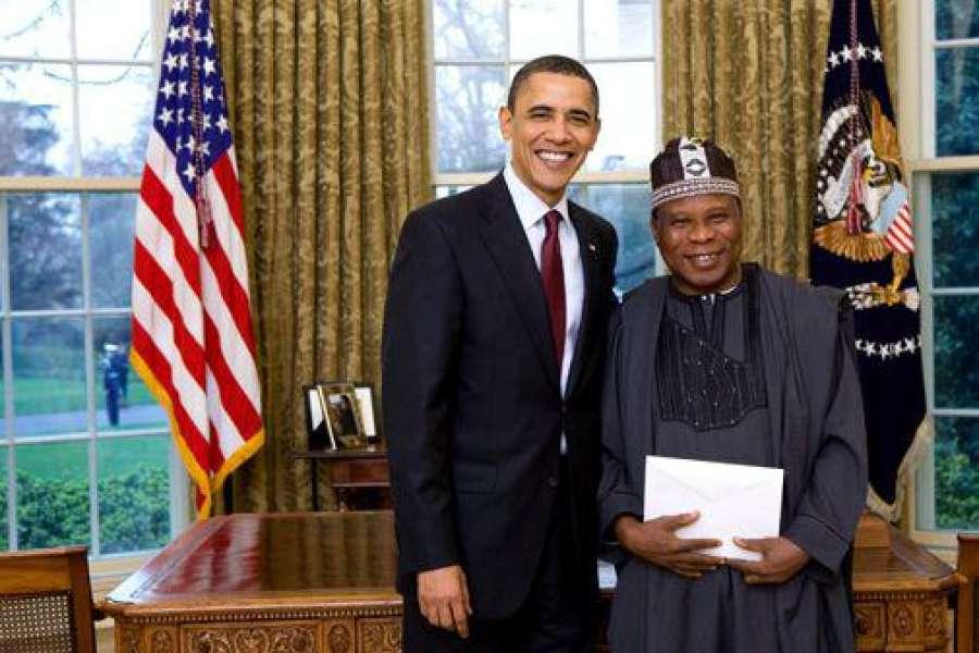 Ambassador Adebowale Adefuye with Barrack Obama