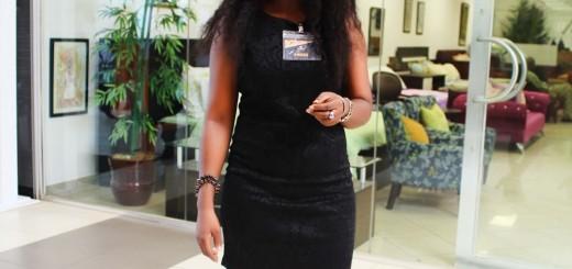 Millicent Arebun of Millare Fashion in a headwrap
