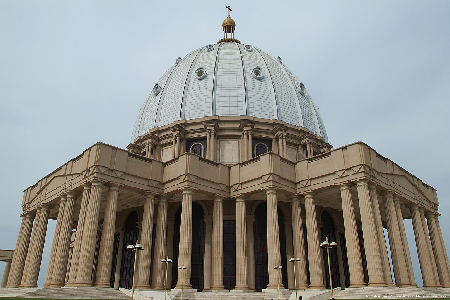 Yamoussoukro basilica dome.