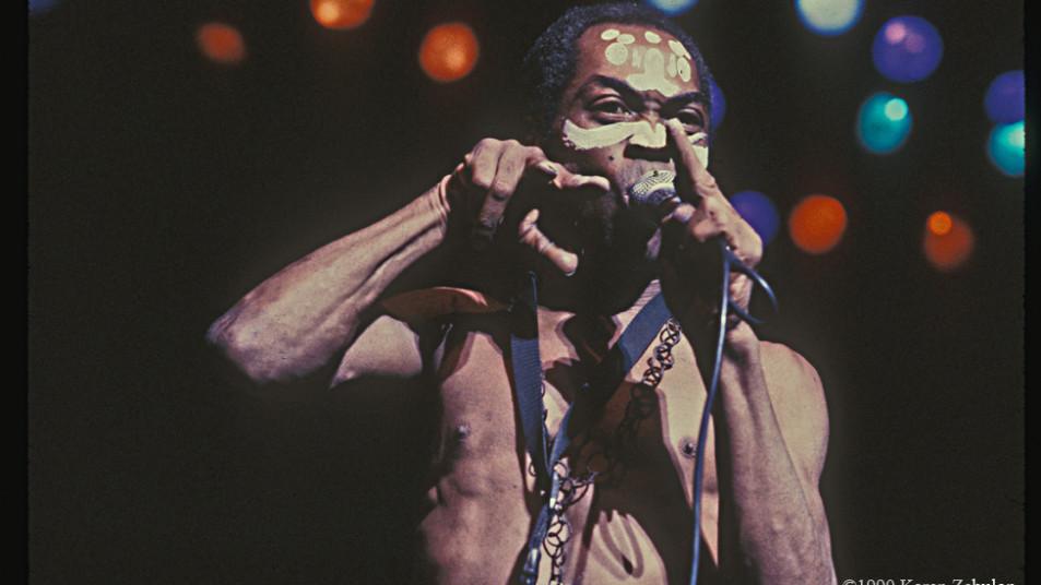 Fela Anikulapo Kuti in concert
